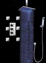 Cascada Luxury Bathroom Shower Set with Luxury Water Power LED Shower Head (Ceil - $633.55