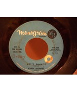 """CHRIS MONTEZ """"LET'S DANCE & YOU'RE THE ONE"""" VG+ 45RPM RECORD MONOGRAM LABEL - $3.99"""