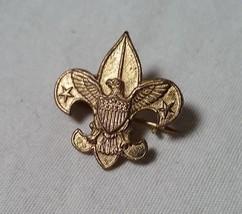 ANTIQUE PATENT 1911 BRASS BOY SCOUTS OF AMERICA BSA FLEUR DE LIS EAGLE PIN - $25.73