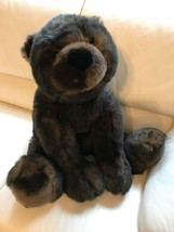 Dan Dee JUMBO BEAR Faux Mink Brown Furry Plush 32 inch New Condition - $280.35