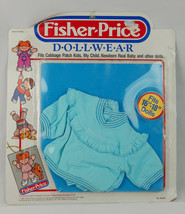 "Vintage 1985 Fisher Price Dollwear Doll Clothing Fits 16""-18""  Baby Blue - $18.69"