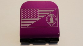 American Flag With A Purple Heart Medal Laser Etched Aluminum Hat Clip B... - $11.99