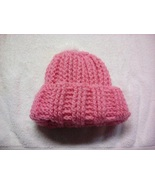 Pink Hat with White PomPom  - $5.00