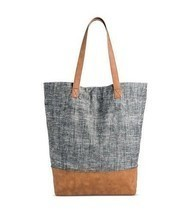 NWT Merona Women's Blue/Gray Magnetic Closure Tote Handbag - $18.76