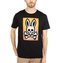 Men's Psycho Bunny Short Sleeve Rawson Graphic Tee Skull Logo Black T-Shirt image 4