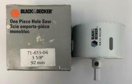 "Black & Decker 71-653-04 3 5/8"" 92mm Hole Saw USA - $8.42"