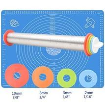 ANREONER Rolling Pin and Baking Mat Set, (Rolling Pin & Baking Mat Set) - $32.77