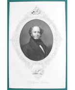 MARTIN VAN BUREN President - 1856 Portrait Print Ornamental Border - $16.20