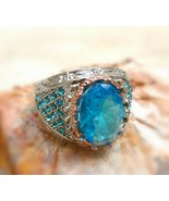 *jinn ring*  witchcraft owned vintage special SOLOMON Symbol of Djinn si... - $53.12