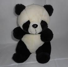 "11"" Vintage 1986 Luv Grupo Negro Blanco Panda Oso de Peluche Juguete Felpa - $21.87"