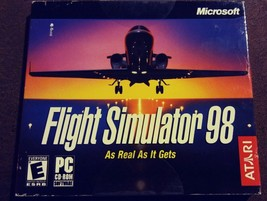 Flight Simulator 98 Microsoft Windows PC 95/98 2003 Atari Aviation RARE ... - $29.99