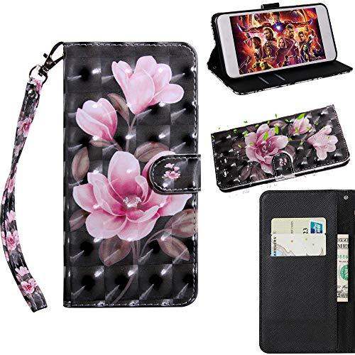 XYX Wallet Case for Motorola Moto Z3 Play/Moto Z3,[Wrist Strap] Painted Design P