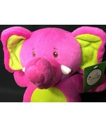 Sweet Sprouts Elephant Plush Hot Neon Pink Green Stuffed Animal Adventure NEW - $24.99