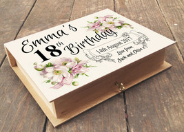 Personalised wooden box and photo album, 18th Birthday or any age, uniqu... - $17.94+