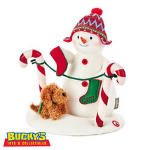 Stockings Hung With Care Snowman Christmas Musical Light Motion Techno P... - $44.50