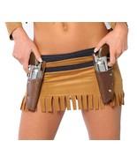 Women's Double Barrel Gun Upholster Belt Holder Accessory Halloween Costume - $13.00