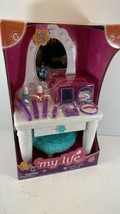 """New In Box** My Life As 13 Piece Light Up Vanity Table Play Set, For 18"""" Dolls - $24.70"""