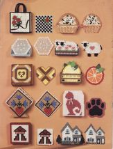 10 Plastic Canvas Cat Victorian House Hopi  Snowflake Red Roses Coaster ... - $11.99