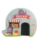 Horizon Wood Snail Mail Blue Post Office House Decor image 1