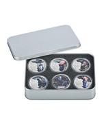 WR 6PCS Stephen Hawking Colored Silver Commemorative Coin Set In Display... - $18.88