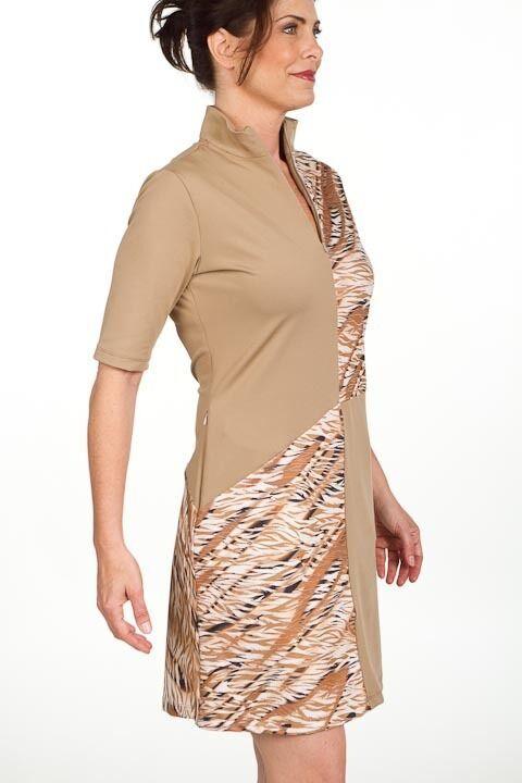 Stylish Golf/Casual Animal Print Golf Dress with Shortie - GoldenWear image 4