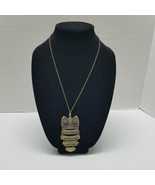 """Articulate Owl 3 1/2"""" Bronze Color Chain 28"""" Vintage - $18.80"""