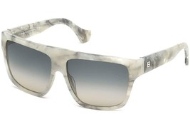 New Balenciaga Sunglasses BA 56 24B Gray Marble w/ Gray Gradient 57-17-139 - $225.35