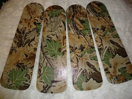 CUSTOM ~ CEILING FAN WITH HUNTER REAL TREE LEAF CAMO CAMOUFLAGE DESIGN - $98.01