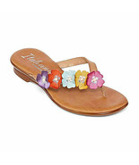 Italiana by Italian Shoemakers Women's Shannie Flat Sandals 6.5M Multi F... - £36.24 GBP