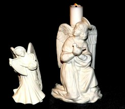Angels - 1 Candle Holder  1 with Harp  AA19-1686  Vintage