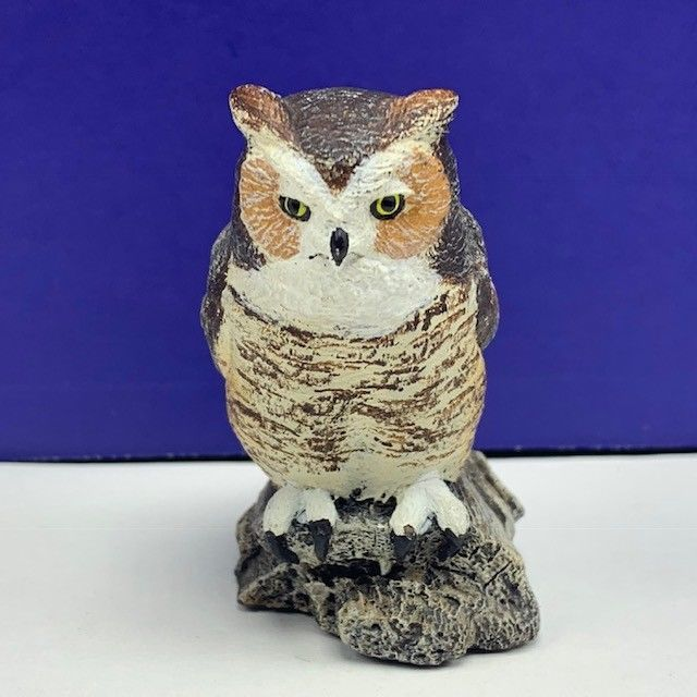 Primary image for Charles Earnhardt bronze wildlife collection Great Horn owl figurine signed vtg