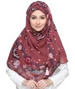 BOKITTA MYSTICAL PINK- PRINTED SMOOTH CHIFFON INSTANT HIJAB Muslim Scarf... - $55.62+
