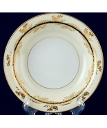 Noritake 5299 Soup Bowl Gold Flowers & Leaves on Black Band Gold Trim C... - $5.00