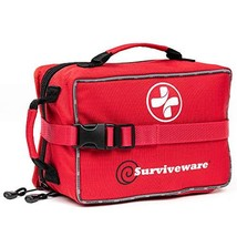 Surviveware Large First Aid Kit & Added Mini Kit for Trucks, Car, Campin... - $135.18