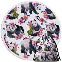 Floral Pandas Beach Towel - $12.32+