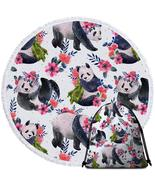 Floral Pandas Beach Towel - $12.32+