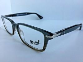 New Persol 2965-V-M 1012 55mm Gray Rectangular Men's Eyeglasses Frame  - $189.99