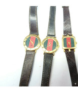 LOT OF 3 VINTAGE GUCCI QUARTZ WATCHES FOR RESTORATION PARTS Shelly/Sherr... - $285.42