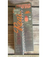 BENEFIT THEY'RE REAL DOUBLE THE LIP LIPSTICK & LINER Coral Confessions 0... - $12.16
