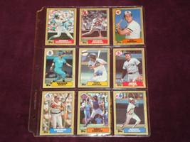 Topps 1987 Hall of Fame Baseball Cards - $12.86
