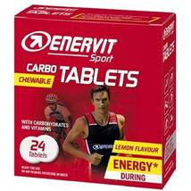 Enervit carbo tablets 24 tablets carbohydrates and vitamins lemon flavor thumb200