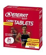Enervit Carbo Tablets 24 tablets  Lemon Flavor - $31.70