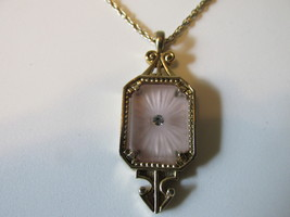"Retro / Vintage Avon ""Frostlights"" Pendant Necklace, Gold Toned - 1977 - $10.99"
