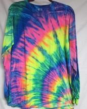 Long Sleeve Rainbow Tie Dye T-SHIRT Mens Womens Size Medium - $15.99