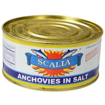 Anchovies in Salt - 12 cans - 1.8 lbs ea - $248.35