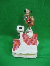 Disney Musical Mickey Riding a Reindeer Plays Santa Clause is Coming to ... - $45.77