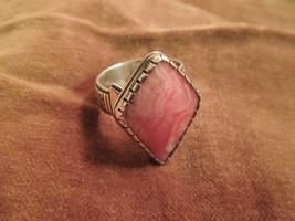 Carolyn Pollack Relios Pink Rhodonite Sterling Southwestern Ring, 12g Sz... - $49.01