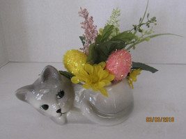 Kitty Planter Ceramic, Handmade,Succulent or Plant Pot . - $26.82 CAD