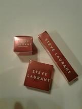 3pcs Steve Laurant Antique Olive Loose Powder~I`m Blushing Blush~Orchid Lip Oil