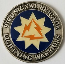 Us Army 93rd Signal Brigade Lightning Warriors Coin Of Excellence - $29.69